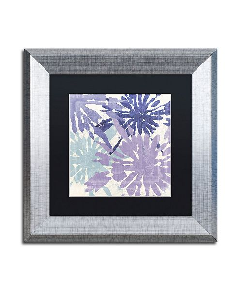 """Trademark Global Color Bakery 'Blue Curry II' Matted Framed Art - 11"""" x 0.5"""" x 11"""""""