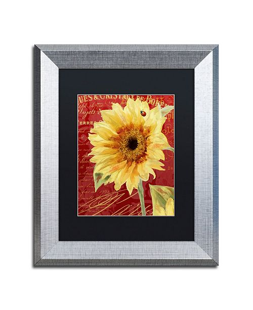 """Trademark Global Color Bakery 'Ete Lady Bug' Matted Framed Art - 11"""" x 0.5"""" x 14"""""""