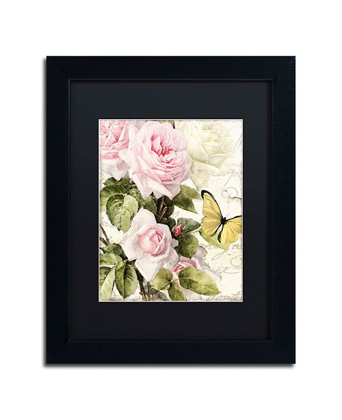 "Trademark Global Color Bakery 'Flora Bella' Matted Framed Art - 11"" x 14"" x 0.5"""