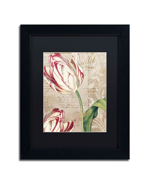 """Trademark Global Color Bakery 'Tulips' Matted Framed Art - 11"""" x 14"""" x 0.5"""""""