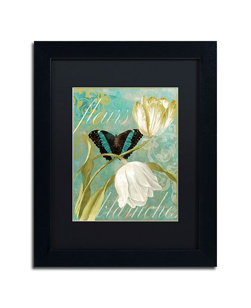 "Trademark Global Color Bakery 'White Tulips' Matted Framed Art - 11"" x 14"" x 0.5"""
