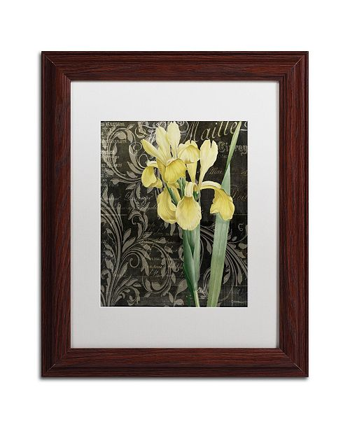 """Trademark Global Color Bakery 'Ode to Yellow Flowers' Matted Framed Art - 11"""" x 0.5"""" x 14"""""""