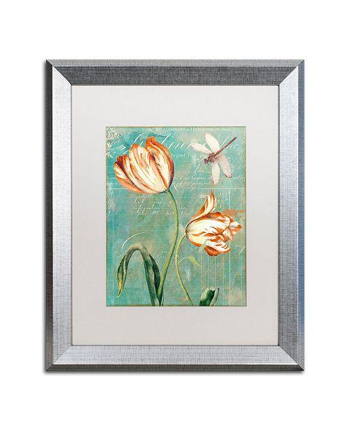 "Trademark Global Color Bakery 'Tulips Ablaze I' Matted Framed Art - 16"" x 0.5"" x 20"""