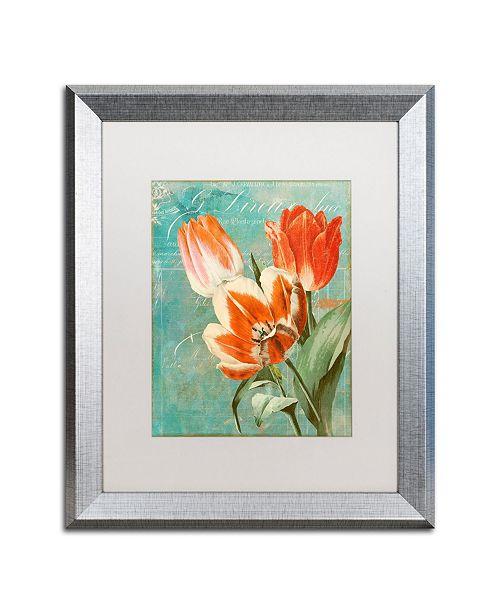 "Trademark Global Color Bakery 'Tulips Ablaze II' Matted Framed Art - 16"" x 0.5"" x 20"""