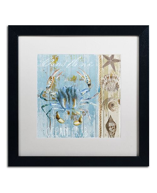 "Trademark Global Color Bakery 'Blue Crab II' Matted Framed Art - 16"" x 16"" x 0.5"""