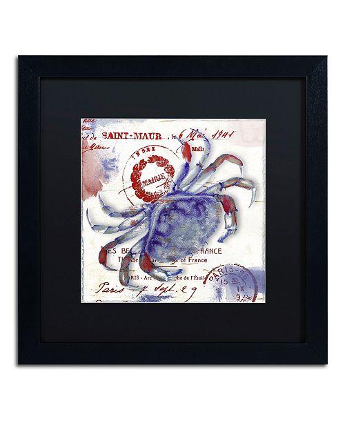 "Trademark Global Color Bakery 'Oceania I' Matted Framed Art - 16"" x 16"" x 0.5"""