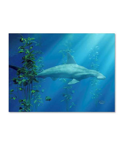 "Trademark Global Daniel Eskridge 'Hammer Head Among The Seaweed' Canvas Art - 47"" x 35"" x 2"""