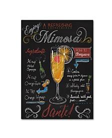"Fiona Stokes-Gilbert 'Mimosa ' Canvas Art - 24"" x 18"" x 2"""