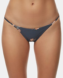 Juniors' Printed Reversible Bikini Bottoms