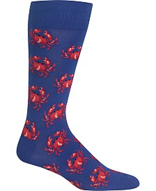 Hot Sox Men's Socks, Crab