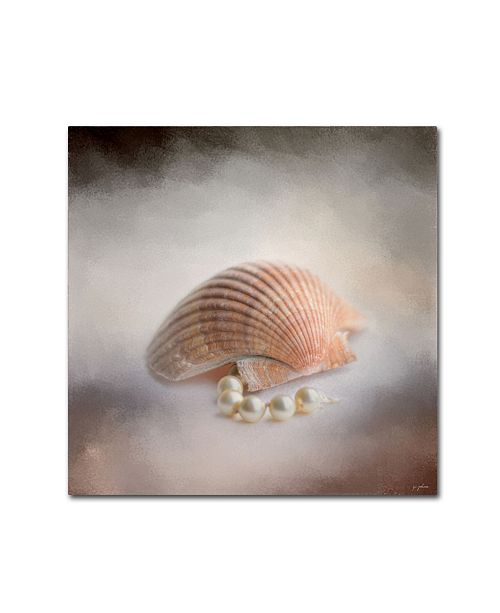 "Trademark Global Jai Johnson 'Sea Shell and Pearls' Canvas Art - 18"" x 18"" x 2"""