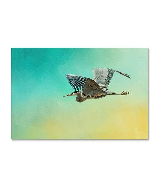 "Trademark Global Jai Johnson 'Heron At Sea' Canvas Art - 47"" x 30"" x 2"""