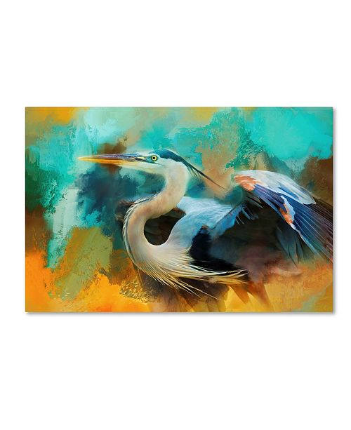 "Trademark Global Jai Johnson 'Colorful Expressions Heron' Canvas Art - 47"" x 30"" x 2"""