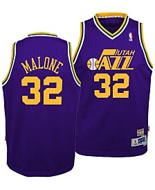 adidas Big Boys Karl Malone Utah Jazz Retired Player Swingman Jersey
