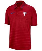 906668f7 Nike Men's Philadelphia Phillies Stripe Game Polo