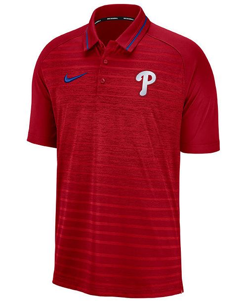 Nike Men's Philadelphia Phillies Stripe Game Polo