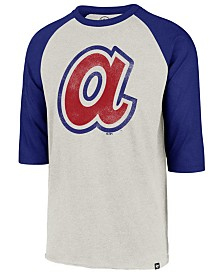 '47 Brand Men's Atlanta Braves Coop Throwback Club Raglan T-Shirt