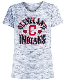 Big Girls Cleveland Indians Spacedye T-Shirt