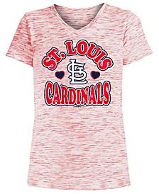 Big Girls St. Louis Cardinals Spacedye T-Shirt