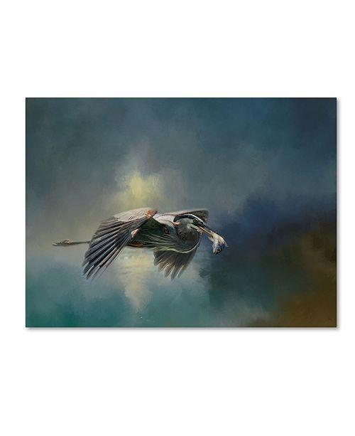 "Trademark Global Jai Johnson 'Blue Herons Catch Of The Day' Canvas Art - 19"" x 14"" x 2"""