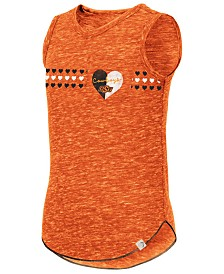 Colosseum Big Girls Oklahoma State Cowboys Distressed Heart Tank Top