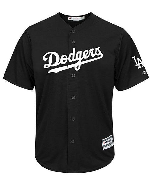 the latest 0309c b1889 Majestic Men's Clayton Kershaw Los Angeles Dodgers Black Tux ...