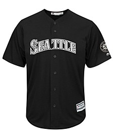 Men's Seattle Mariners Black Tux Replica Cool Base Jersey
