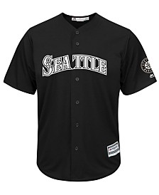 Majestic Men's Seattle Mariners Black Tux Replica Cool Base Jersey