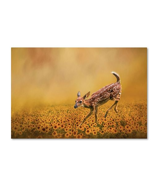 "Trademark Global Jai Johnson 'Romping In The Sunflower Field' Canvas Art - 47"" x 30"" x 2"""