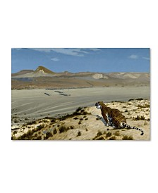 """Gerome 'Tiger On The Watch' Canvas Art - 32"""" x 22"""" x 2"""""""