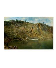"""Homer Dodge Martin 'The Iron Mine Port Henry Ny' Canvas Art - 32"""" x 22"""" x 2"""""""