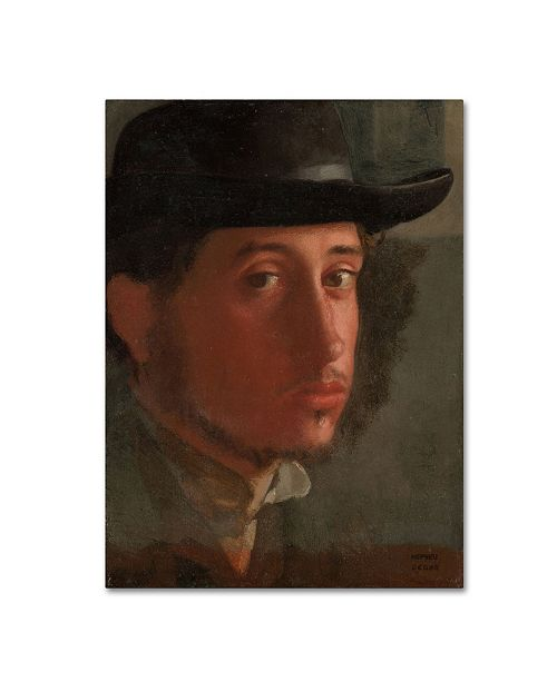 "Trademark Global Degas 'Selfportrait' Canvas Art - 32"" x 24"" x 2"""