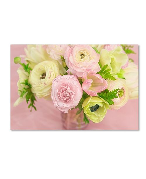 "Trademark Global Cora Niele 'Pink And Lime Spring Bouquet I' Canvas Art - 19"" x 12"" x 2"""