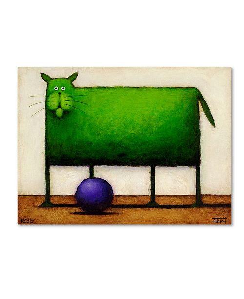 "Trademark Global Daniel Patrick Kessler 'Green Trouble I' Canvas Art - 24"" x 18"" x 2"""