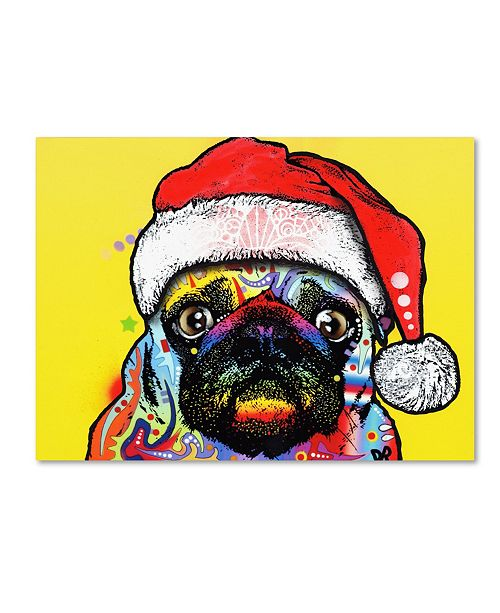 "Trademark Global Dean Russo 'Pug Christmas Edition' Canvas Art - 19"" x 14"" x 2"""