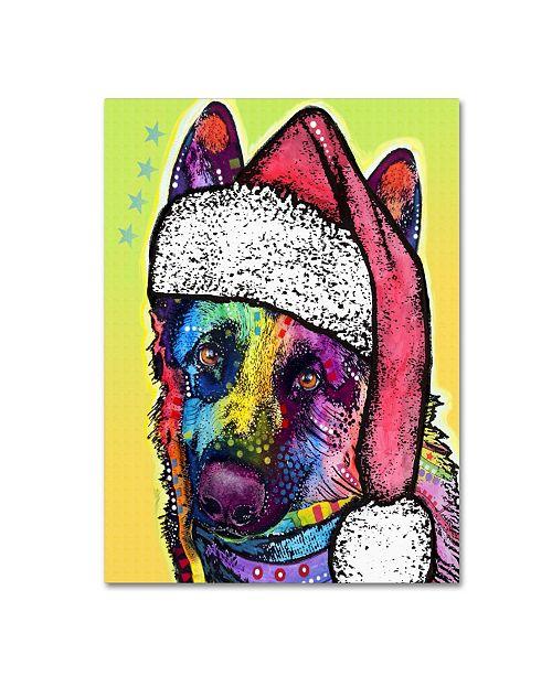 "Trademark Global Dean Russo 'German Shepherd Christmas' Canvas Art - 19"" x 14"" x 2"""