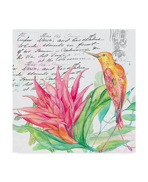 "Trademark Global Irina Trzaskos Studio 'Tropical Garden III' Canvas Art - 18"" x 18"" x 2"""
