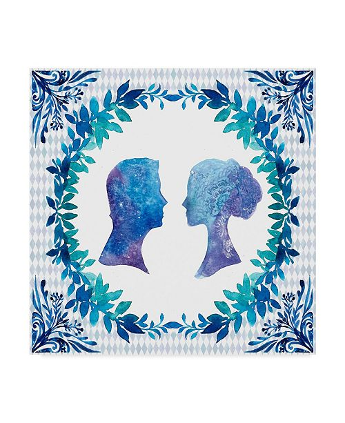 "Trademark Global Irina Trzaskos Studio 'Winter Tales Couple' Canvas Art - 35"" x 35"" x 2"""
