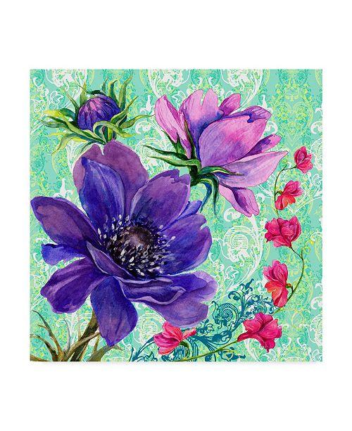 "Trademark Global Irina Trzaskos Studio 'Bright Florals I' Canvas Art - 14"" x 14"" x 2"""