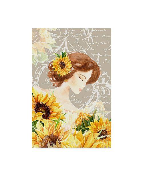 "Trademark Global Irina Trzaskos Studio 'Sunflower Girl II' Canvas Art - 32"" x 22"" x 2"""