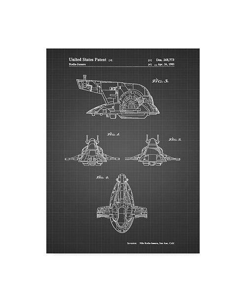 "Trademark Global Cole Borders 'Space Ship 2' Canvas Art - 19"" x 14"" x 2"""