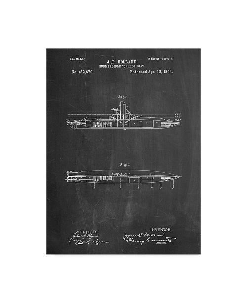 "Trademark Global Cole Borders 'Submarine' Canvas Art - 32"" x 24"" x 2"""