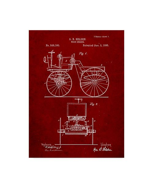 "Trademark Innovations Cole Borders 'Bicycle 3' Canvas Art - 19"" x 14"" x 2"""