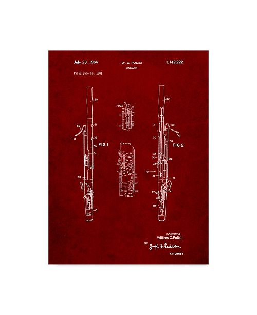 "Trademark Global Cole Borders 'Instrument' Canvas Art - 32"" x 24"" x 2"""