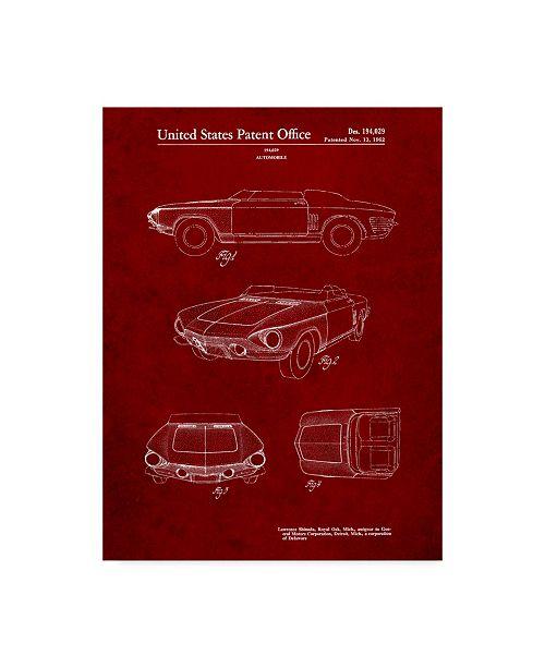 "Trademark Innovations Cole Borders 'Car 7' Canvas Art - 47"" x 35"" x 2"""