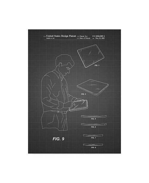"Trademark Global Cole Borders 'Ipad Design 2005' Canvas Art - 47"" x 35"" x 2"""