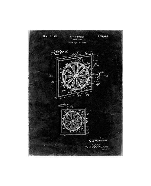 "Trademark Innovations Cole Borders 'Dart Board' Canvas Art - 24"" x 18"" x 2"""