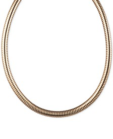 "Omega Chain Collar Necklace, 16"" + 3"" extender"