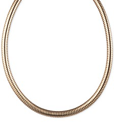 "Lauren Ralph Lauren Omega Chain Collar Necklace, 16"" + 3"" extender"