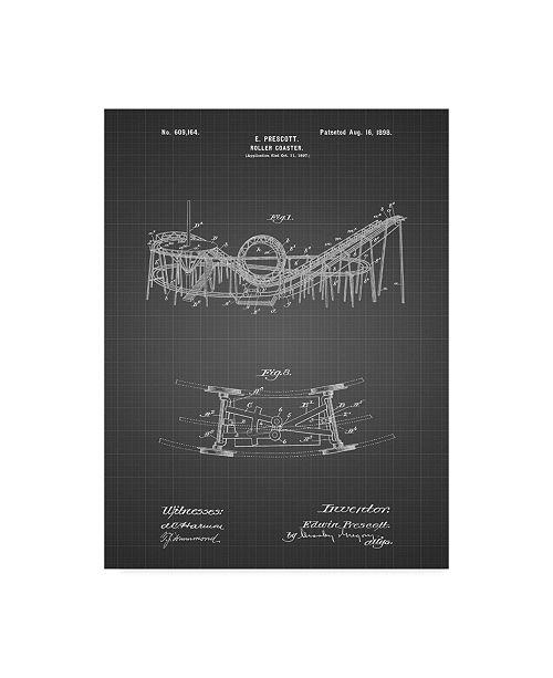 "Trademark Innovations Cole Borders 'Coney Island Loop The Loop Roller Coaster' Canvas Art - 19"" x 14"" x 2"""